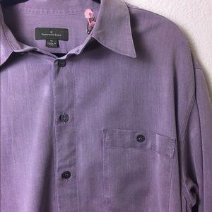 Ermenegildo Zegna Mens Button Down- Lavender